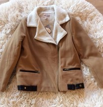 Forever 21 Coat Camel with Fleece Lining Womens Size M Casual Jacket Zip New - $29.99