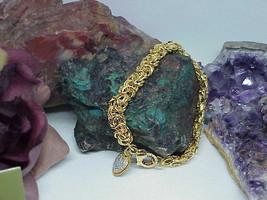 "Judith Ripka 14k Gld Clad Sterling Byzantine Bracelet DMQ Heart Charm 8""... - $262.35"