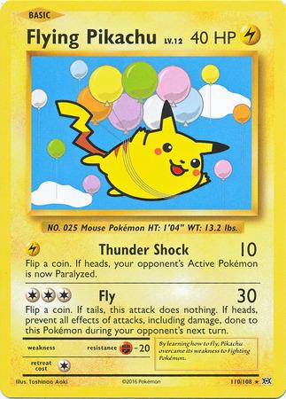 Flying pikachu 110 108 secret rare xy evolutions