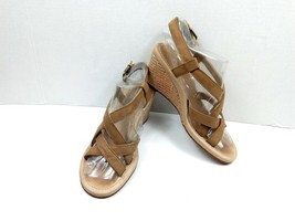 UGG Women's Sandals Gaiana Strapy Wedge Chestnut Casual Shoes Size 39 US 8 - $39.42