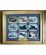 """11"""" X 14"""" Natural Wood Framed JET Aircraft - Mounted with Photo Tabs - $59.35"""