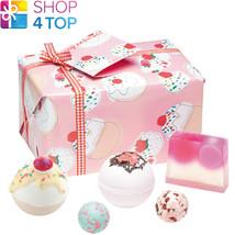 Cherry BATHE-WELL Gift Pack Cherry Chamomile Handmade Natural Bomb Cosmetics New - $18.80