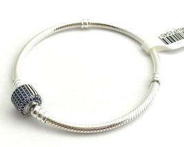 "Pandora Signature Clasp, Royal Blue Crystal Bracelet, 590723NCB-18, 7.1""... - $67.44"