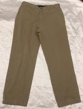 Tommy HilFiger Size 38x34 Men's Tan Khaki Casual Pants Flat Front Free Shipping - $14.90