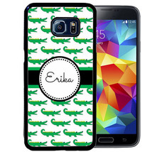 PERSONALIZED RUBBER CASE FOR SAMSUNG S9 S8 S7 S6 S5 PLUS WHITE GREEN ALL... - $13.98