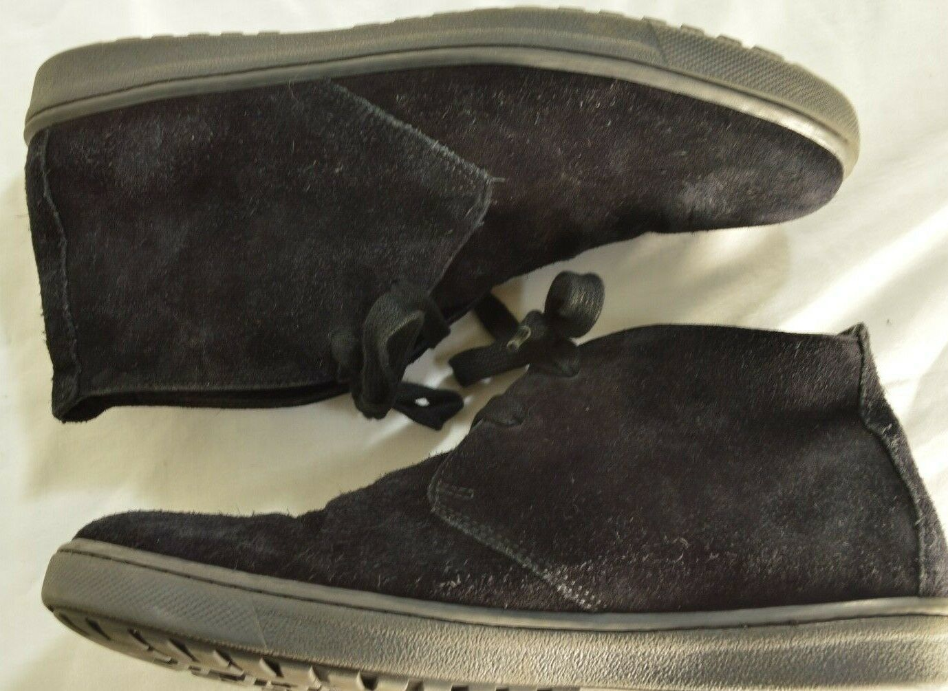 Vince shoes boots hi top US 8 EU 41 black suede leather upper leather lining image 4
