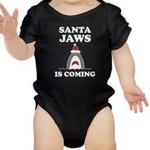 Santa Jaws Is Coming Baby Black Bodysuit - $13.99