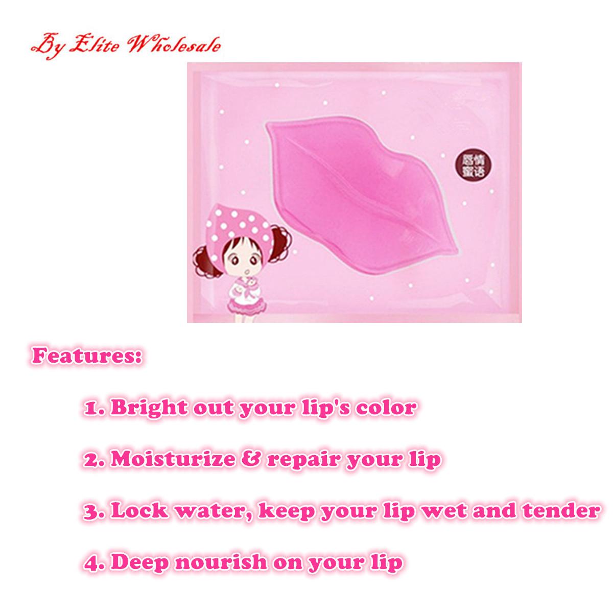 Lip Plumper Collagen Nourishing Crystal Lip Mask Pads