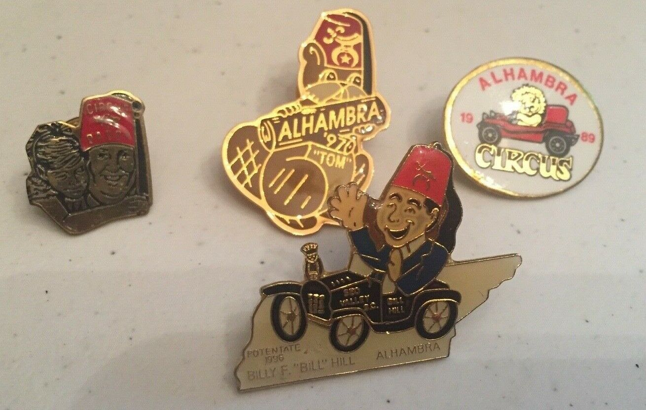 Primary image for Vintage Lot of Alhambra Lapel Hat Pin  Lot of 4 Pins Alhambra Circus Baby