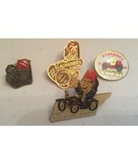 Vintage Lot of Alhambra Lapel Hat Pin  Lot of 4 Pins Alhambra Circus Baby  - $39.59
