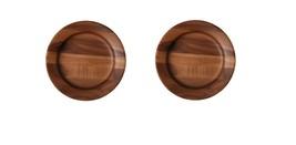 "Monote Rawood Acacia Wood Kitchen Serving Bowl Dish Platter Plate Set 11.8"""