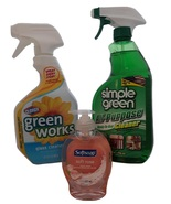 Cleaner Supplies Bundle: Green Works 32 Oz, Simple Green 32 Oz, Softsoap... - $25.95