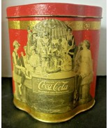 Vintage 1989 Coca-Cola 1920's Design Tin Canister 1920's Ladies Rare - $12.99