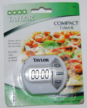 Taylor Compact Digital Timer 5806 Clip Magnet Stand Precision NEW - $7.59