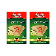 Melitta Cone Coffee Filter #2 100 Count- Natural Brown 2 pack