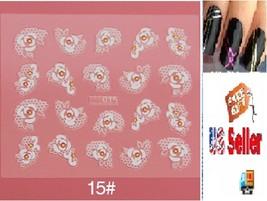 E1:Nail Art Manicure Tips Sticker w/Free 2PCS Rolls Striping Tape Line Nail Tips - $2.97