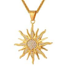 U7 Brand 2017 Big Flower Charm Necklace Rhinestone Crystal 18K Gold Plat... - $31.99