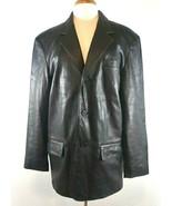 City Jones New York Mens 40R Black Suit Coat Leather Jacket - $48.48