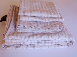 Ralph Lauren Graydon Shirting Stripe FULL Flat & Cases Dune / Nantucket Red - $39.00