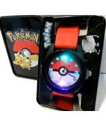 Nintendo Pokemon Flashing Dial Face Analog Watch With Collectible Tin Ni... - $0.99