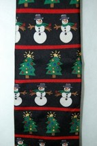 Save The Children Collection Christmas Cheer Necktie Snowman Tree image 2