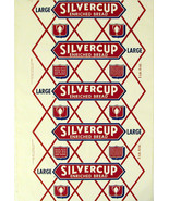 Vintage bread wrapper SILVERCUP LARGE Detroit Chicago New York new old s... - $9.99