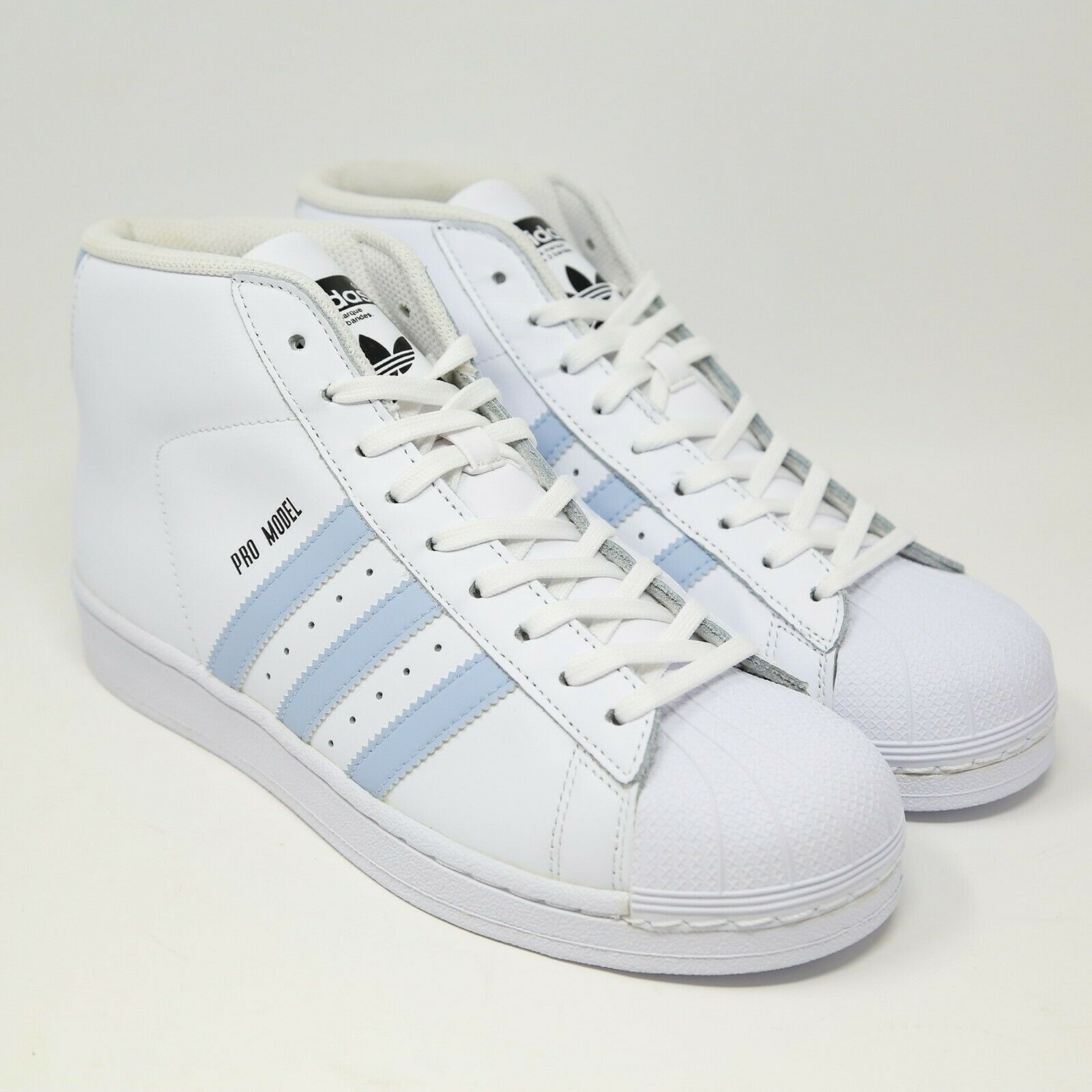 Primary image for Adidas pro Model Guscio Punta Bianco Facile Blu BW1341 Basket UNC Carolina Rétro
