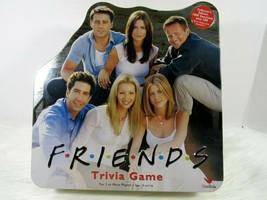 Friends Trivia Collectors Edition Tin Case Board Game open Complete 2002  - $49.47