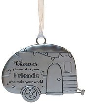 Life ie Beautiful Inspirational Zinc Ornament by Ganz- Friends Make Your... - $143,87 MXN
