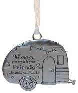 Life ie Beautiful Inspirational Zinc Ornament by Ganz- Friends Make Your World - $7.42