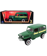 1955 Willys Jeep Station Wagon Green with Yellow Stripes 1/18 Diecast Mo... - $81.82