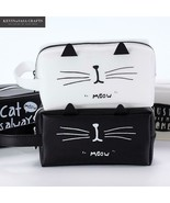 KEVIN&SASA CRAFTS® White Cat Pencil Case Students School Supplies Statio... - $6.49