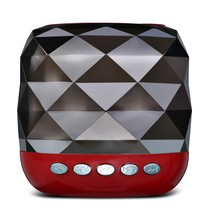 YZS - 05 Mini Wireless Bluetooth Stereo Speaker LED(RED) - $23.79