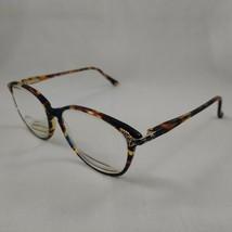 Laura Ashley Eyeglass Frames DEBORAH Blueberry Plastic Rim Tortoise Blue Gold - $22.46