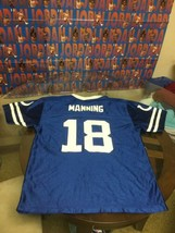 Indianapolis Colts Peyton Manning Blue NFL Team Apparel Jersey Youth XL - $13.85