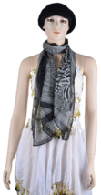 Women zebra black and white animal patterned fashion Scarf luxurious touch - $6.92
