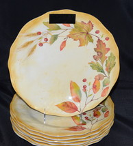 Tahari Home * 8 DINNER PLATES * Autumn / Fall Leaves, Thanksgiving, NEW - $69.99