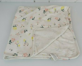 Carters Baby Girl Blanket White Pink Yellow Green Flower Floral Cotton S... - $19.79