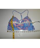 Betsey Johnson Push-Up Bikini SWIM Top ONLY Blue Belle Flower L-NWOT - $33.59