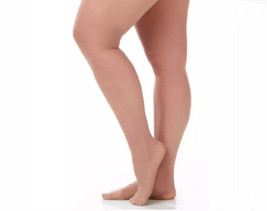Catherines  Size F  Day Sheer Pantyhose  TAUPE  1 Pair  400-450 lbs.  NEW - $12.88