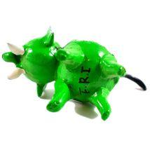 Handmade Oaxaca Copal Wood Carving Folk Art Green Elephant Bobble Tail Figurine image 6