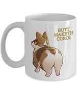 Corgi Butt Mug - Ceramic Travel White Cup - Dog Lover Gift Idea - $14.80