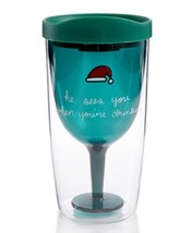 """Celebrate Shop """"He Sees You When You're Drinking"""" Travel Wine Tumbler wi... - $15.49"""