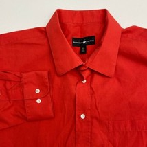 Beverly Hills Polo Club Dress Shirt Mens 18.5 2XL Red 34/35 Sleeve Chest... - $18.95
