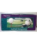 Park Avenue Golf Ball Monogrammer Personalize Golf Balls Chrome-Plated P... - $19.25