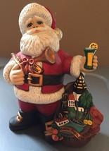 Vintage Ceramic Bisque South Carolina Santa Figurine Sweet Tea In The South - $28.04