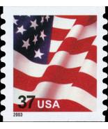 2003 37c American Flag, Coil, SA Scott 3633a Mint F/VF NH - $2.56