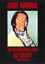 "ANDY WARHOL American Indian (Black) 49.25"" x 35"" Poster 1976 Pop Art Black, - $696.25"