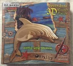 Seven Seas 3D Wooden Puzzle Bottle Nose Dolphin Built & Rebuild - $5.87
