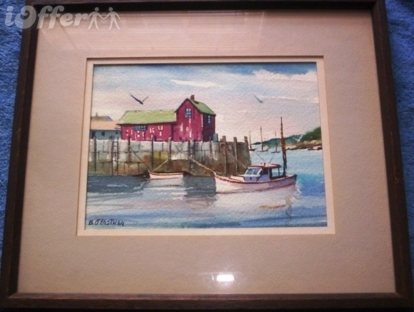 "Primary image for ""HARBOR SCENE"" SIGNED / BY BERNARD GERSTNER"